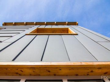 Habillage d'une façade en zinc à Bègles