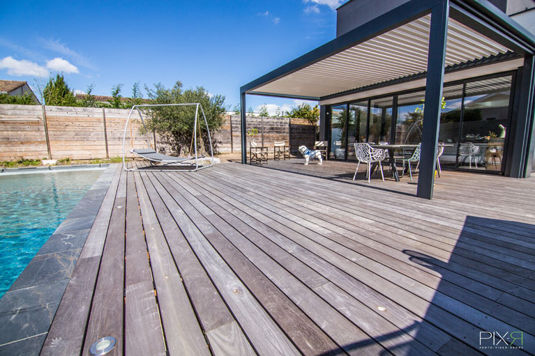 Terrasse bois en exotique essence IPE PMV