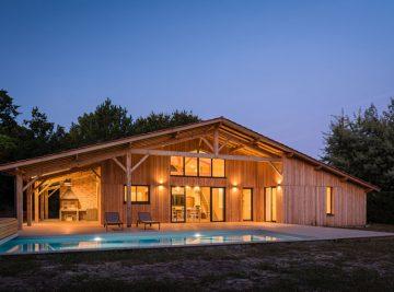 Maison ossature bois type landaise